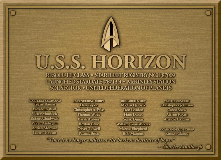 USS Horizon plaque